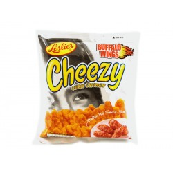 Leslie's Cheezy Corn Crunch - Buffalo Wings snack