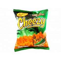 Leslie's Cheezy Corn Crunch - Cheddar Jalapeno snack