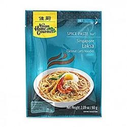 Asian Home Gourmet Spice Paste for Singapore Laksa Coconut Curry Noodles - Mild