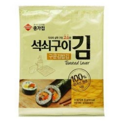Chonnga (종가집 구운 김밥) Roasted Seaweed for Kimbap