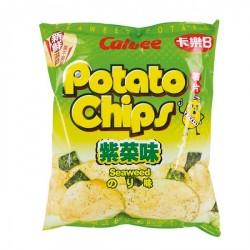 Calbee Snacks (紫菜原味薯片) Seaweed Original Flavoured Potato Chips snack