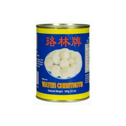 Rolin Brand Whole Water Chestnuts 567g Tin of Water Chestnuts
