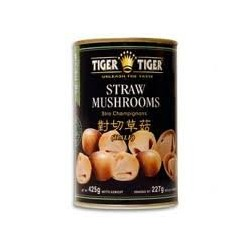 Tiger Tiger Straw Mushroom (half) 425g net Tin Straw Mushrooms