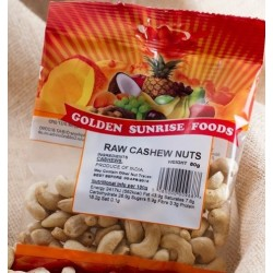 Golden Sunrise Foods - 100g - Raw Cashew Nuts