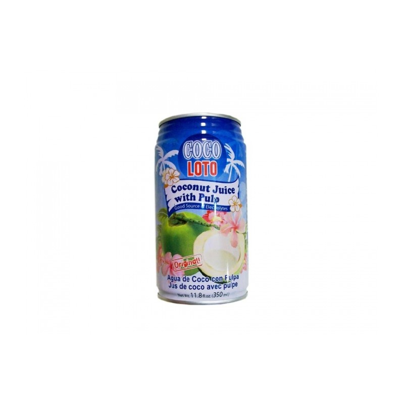 Coco Loto 350mL Coconut Juice with Pulp Original