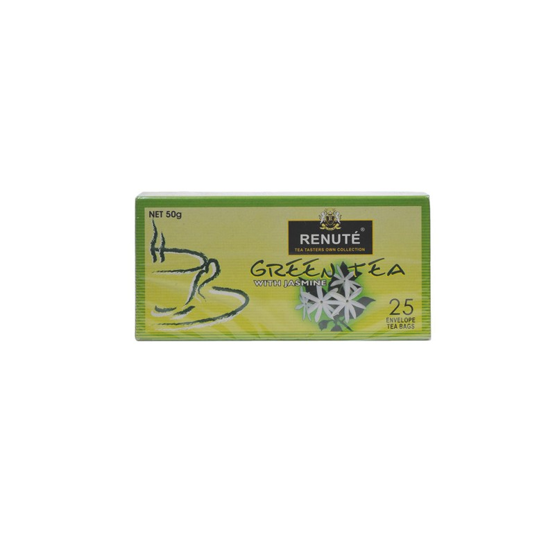 Renute 50g Green Tea 25 Enveloped Tea Bags