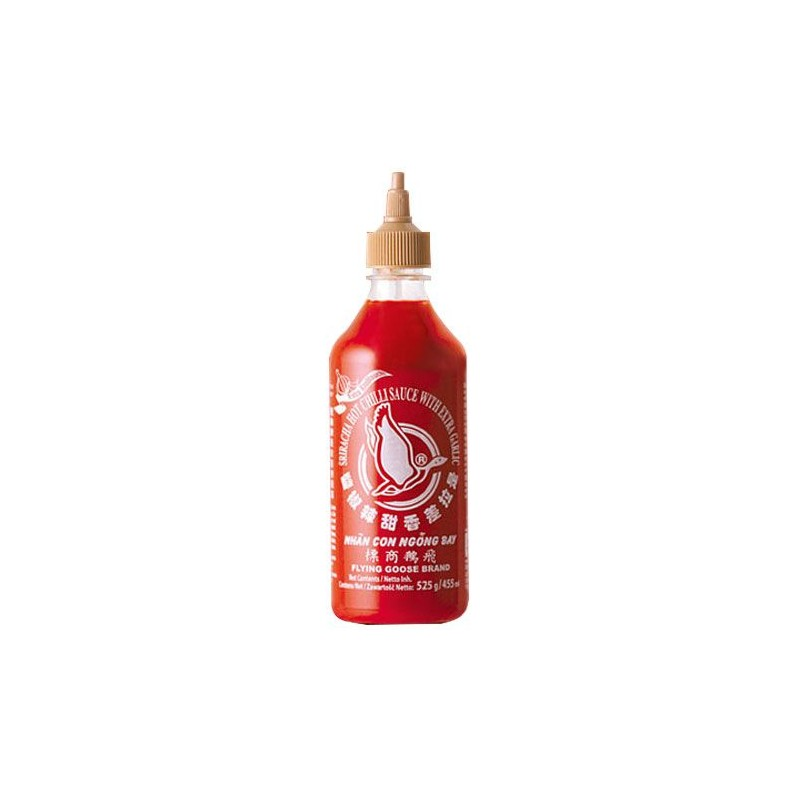 Flying Goose Brand - 455ml - Sriracha Hot Chilli Sauce (Extra Garlic)