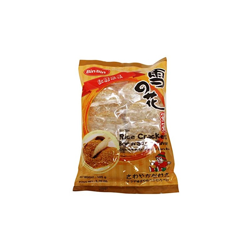 BinBin Rice Cracker 105g Brown Sugar Flavour