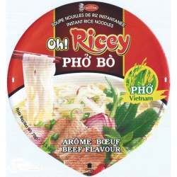 Oh Ricey Noodles 70g Pho Bo (Beef) Bowl Instant rice noodles