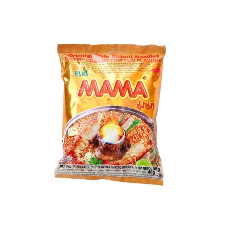Mama Noodle - Shrimp Creamy Tom Yum Flavour Large Pack 90g Thai Yellow Noodles