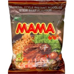 Mama Noodles 60g Stew Beef Flavour Instant Thai Yellow Noodles