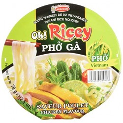 Oh Ricey Pho Ga 12x70g Instant chicken flavour bowl of rice noodles