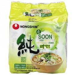 Nongshim Noodles  5x112g Soon Vegan Veggie Ramyun (농심...