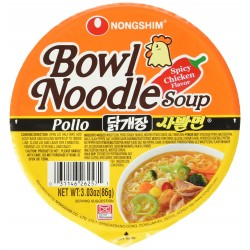 Nongshim Bowl Noodle Soup 86g Spicy Chicken Flavour Noodle Bowl