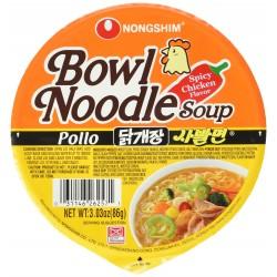 Nongshim Box of Bowl Noodle Soup 12x86g Spicy Chicken Flavour Noodle Bowl
