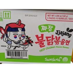 Samyang Noodle Box Hot Chicken 8x5x140g Jjajang Ramen 40 Packs of Instant Noodles