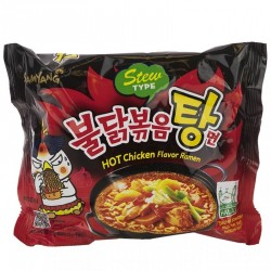 Samyang Noodle Box Hot Chicken Flavour 8x5x145g Stew Type Korean Ramyun 40pk Noodles