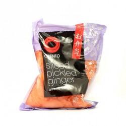 Obento pink ginger 1kg pickled pink ginger slices