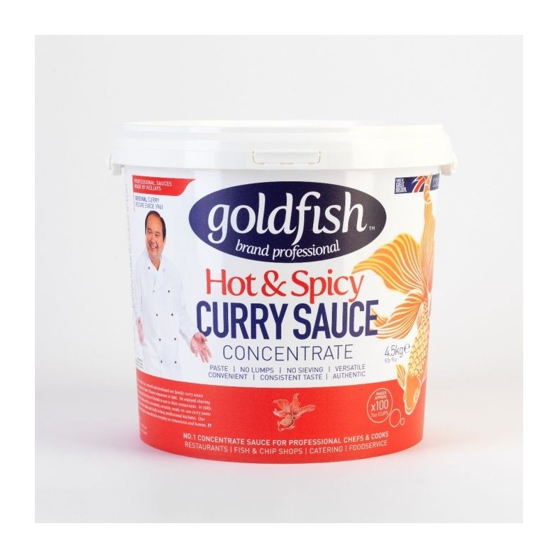 Goldfish hot & spicy curry concentrate 4.5kg tub