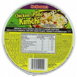 Mr. Noodles Chicken Kimchi (12 x 86g) Bowl Pot Noodle