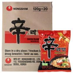 Nong Shim Noodles Box Shin Ramyun (農心 辛辣面) 20x120g Korean Noodle