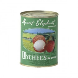 Mount Elephant Lychees in Light Syrup 567g Lychee Tin