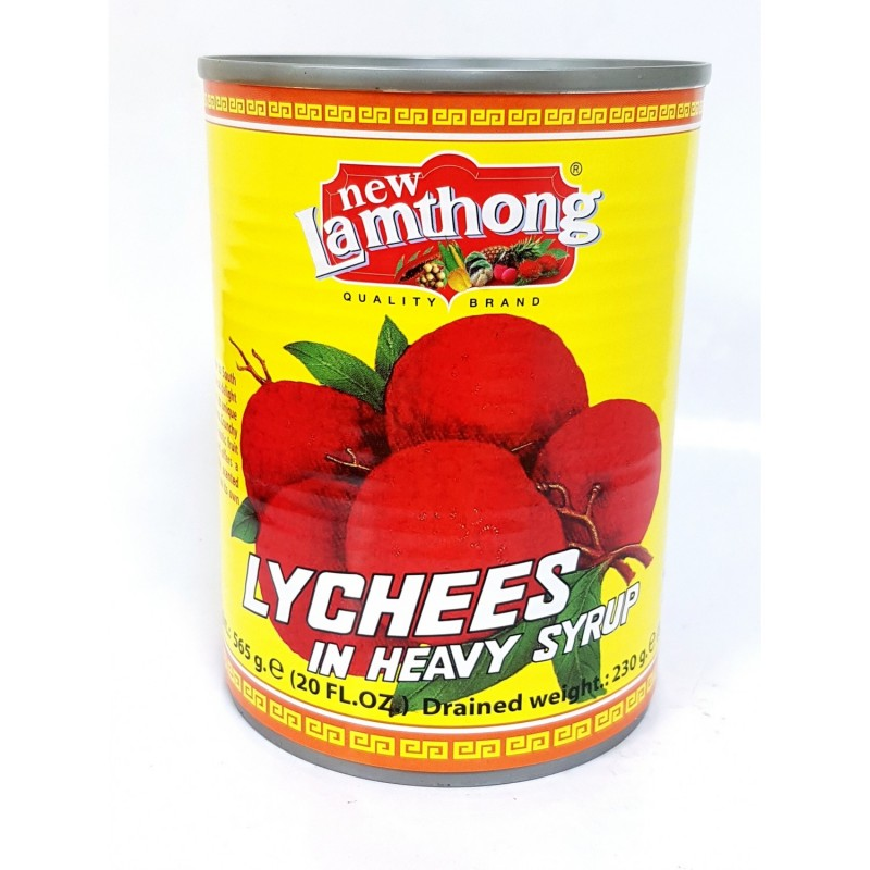 New Lamthong Lychees in heavy syrup 565g Thai Lychee in Syrup