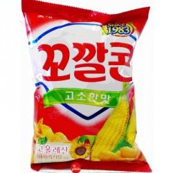 Lotte Kokal Corn Snack 77g Original Corn Flavour Snack