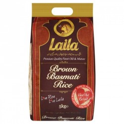 Laila Brown Basmati Rice 5kg Naturally Gluten Free Rice