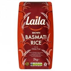 Laila Brown Basmati Rice 2kg Naturally Gluten Free Rice