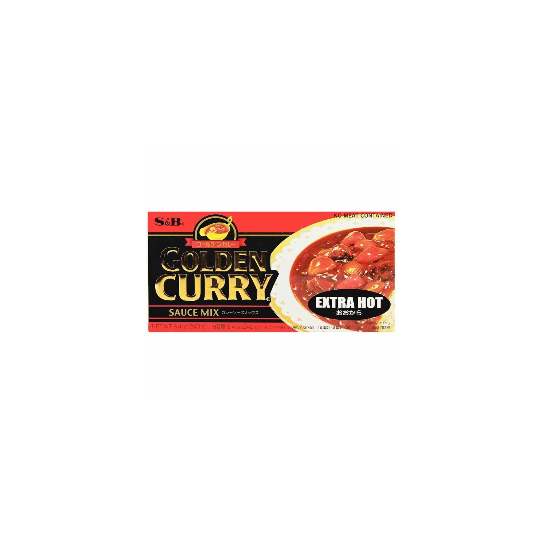 S&B Golden Curry Sauce Japanese 220g Extra Hot Sauce Mix