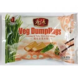 Freshasia Chive and Tofu Skin 459g Frozen Dumplings