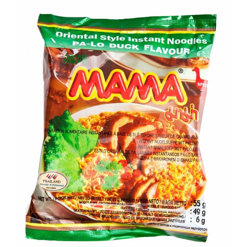 Mama Noodle Box 30x55g Pa-Lo Duck Flavour Thai Yellow Noodles