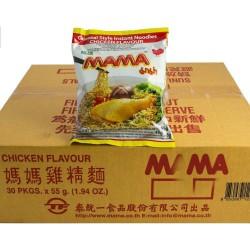 Mama Instant Noodle Box 30x55g Chicken Flavour Mi Ga Noodles