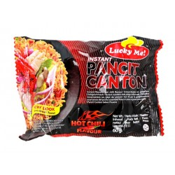 Lucky Me Instant Pancit Canton Extra Hot Chilli Flavour 60g Filipino Chow Mien Noodles