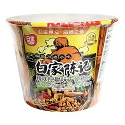 Bai Jia Noodles Spicy Fei-Chang Flavour 108g (百家 辣味肥腸味方便粉絲)Sweet Potato Noodle
