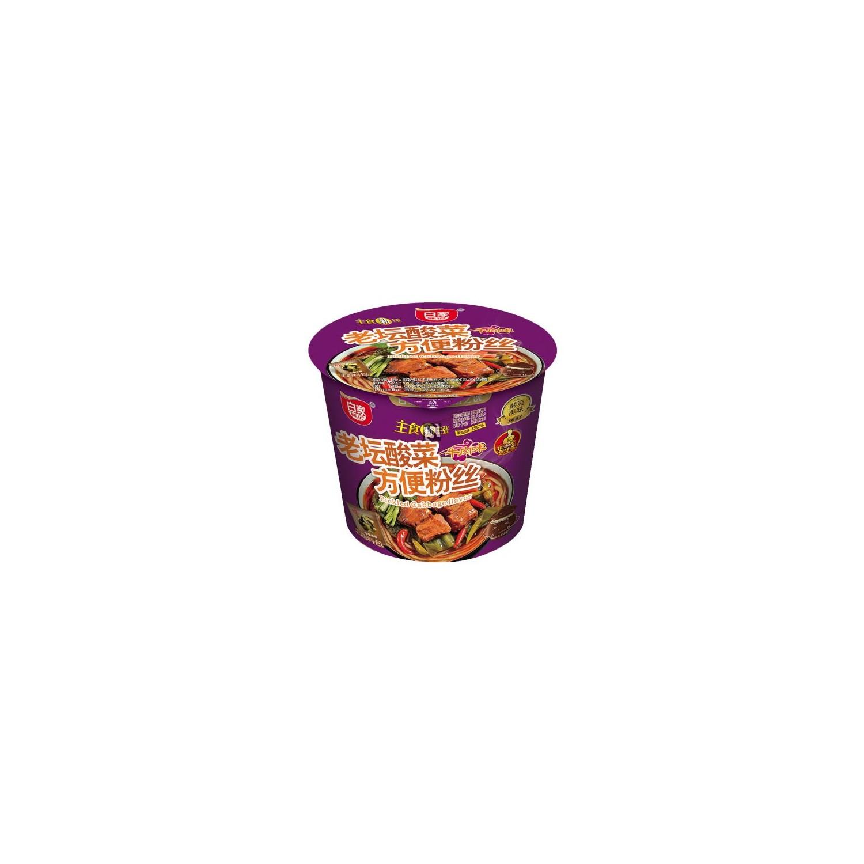 Bai Jia Noodles Spicy Fei-Chang Flavour 75g (百家 辣味肥腸味方便粉絲)Sweet Potato Noodle Bowl