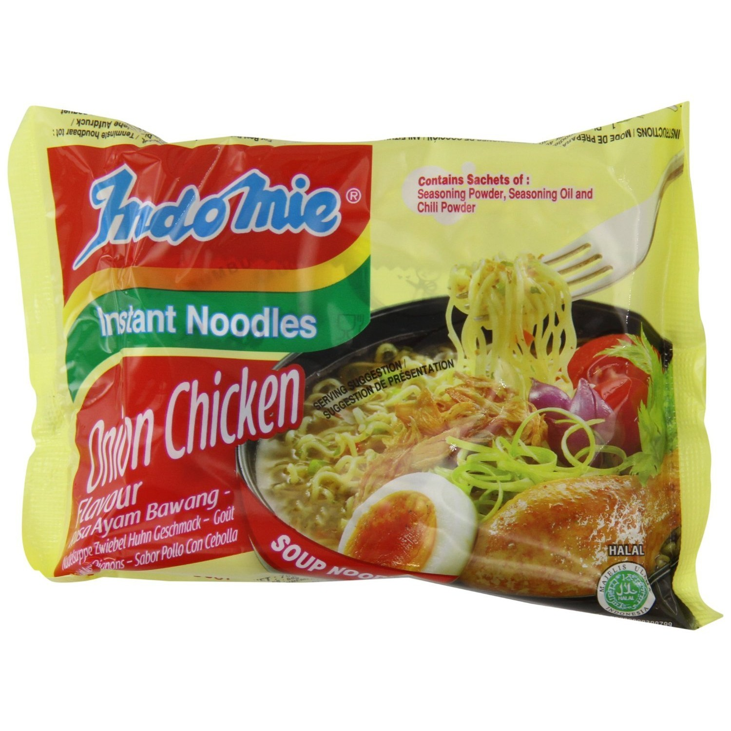 Indomie Box Vegetable Flavour 40x75g Instant Noodles Vegetable with Lime