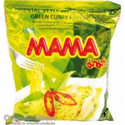 Mama Noodles 55g Green Curry Flavour Instant Thai Yellow Noodles