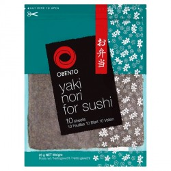 Obento Yaki Nori (Seaweed Sheet) for Sushi 25gx10 Roasted Seaweed