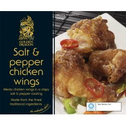 Golden Dragon Salt and Pepper Chicken Wings 200g Frozen Chinese Chicken Wings