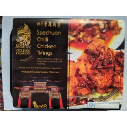 Golden Dragon Szechuan Chilli Chicken Wings 200g Frozen Chinese Chilli Chicken Wings