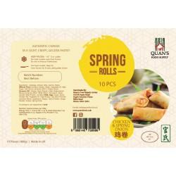 Quan's Spring Rolls Chicken and Spring Onion 10pcs Handmade Spring Rolls