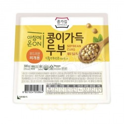 Chongga Soyrich Tofu - Soft 300G Fresh Korean Tofu