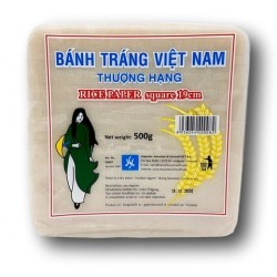Vietnamese Rice Paper Squares 19cm 500g Banh Trang Square Rice Papers