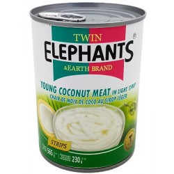 Twin Elephants Earth Brand 400ml Ring Pull Can Palm Seeds and Jackfruit