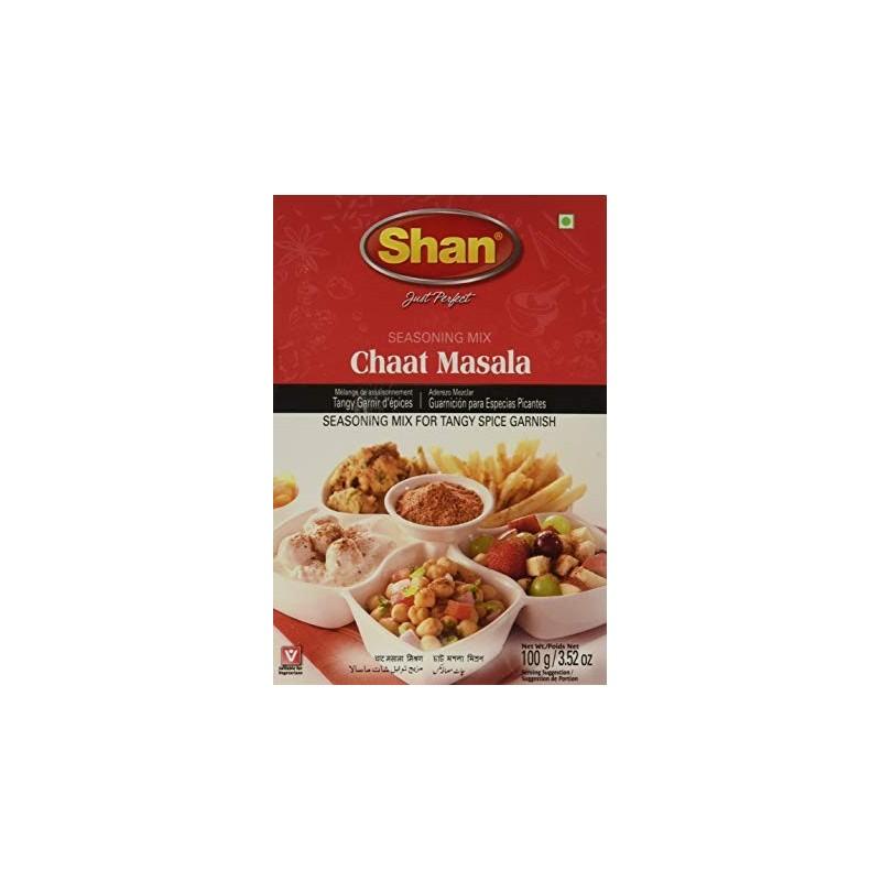 Shan CHAAT MASALA 100g Tangy Spice Garnish Recipe
