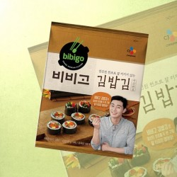 CJ Bibigo Hat Crispy Seaweed Yonggim 20g Roasted Korean...