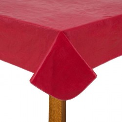 Red plastic tablecloth 54x90 inch tablecloth
