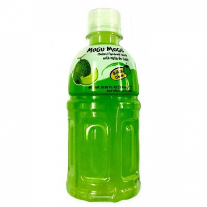 Mogu Mogu, Melon Flavored Drink 320mlx6 Multipack With Nata De Coco